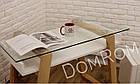 """Сучасний стіл """"Белуччі"""" зі скла і дерева в стилі loft, фото 7"""