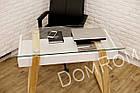 """Сучасний стіл """"Белуччі"""" зі скла і дерева в стилі loft, фото 4"""
