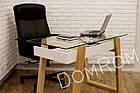 """Сучасний стіл """"Белуччі"""" зі скла і дерева в стилі loft, фото 2"""
