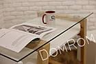 """Сучасний стіл """"Белуччі"""" зі скла і дерева в стилі loft, фото 10"""