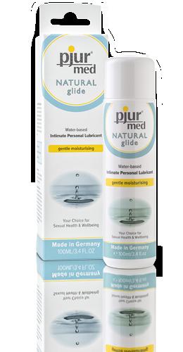 Лубрикант для чувствительной кожи Pjur Med Natural Glide 100 мл на водной основе нейтральный