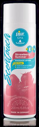 Массажный лосьон Pjur SPA ScenTouch Massage Lotion Strawberry Summer 200 мл с ароматом клубники, фото 2