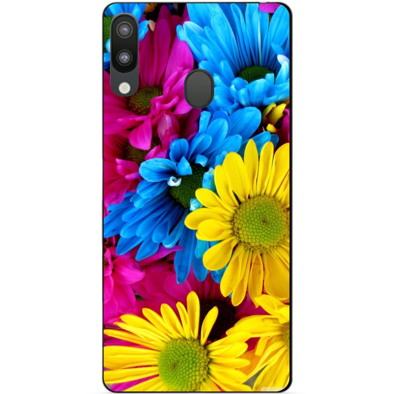 Чехол силиконовый для Samsung M20 с рисунком Хризантемы