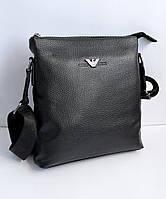 499951ac0920 Мужская кожаная сумка через плечо Armani реплика, сумка мессенджер, планшет.