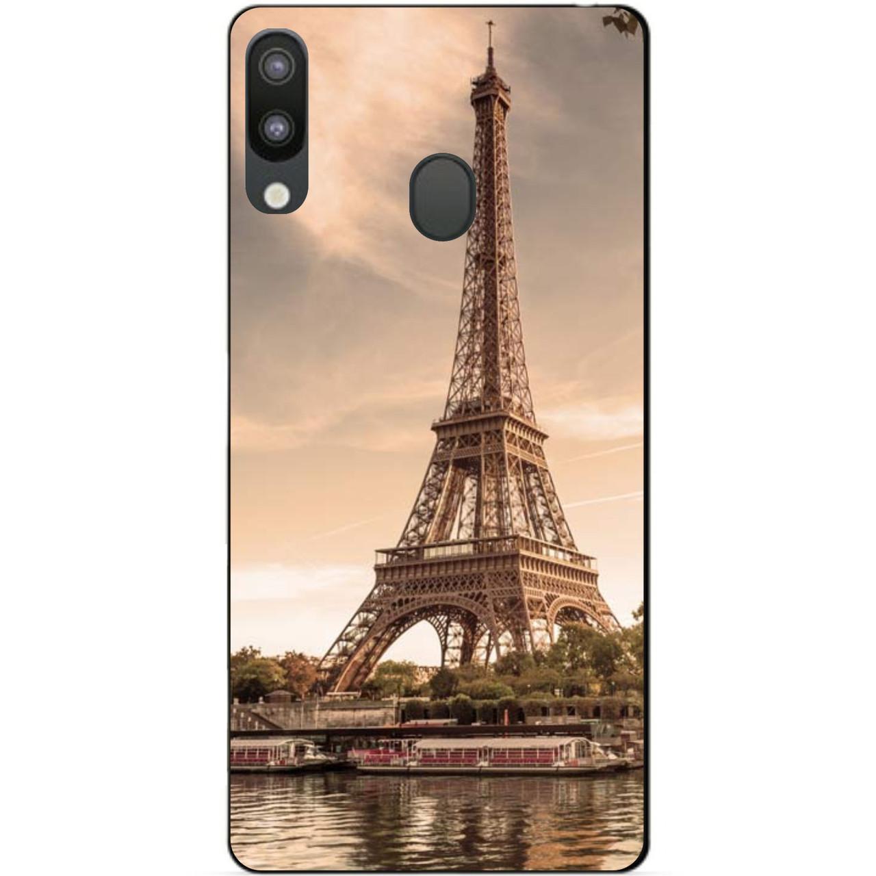 Чехол силиконовый для Samsung M20 с рисунком Париж