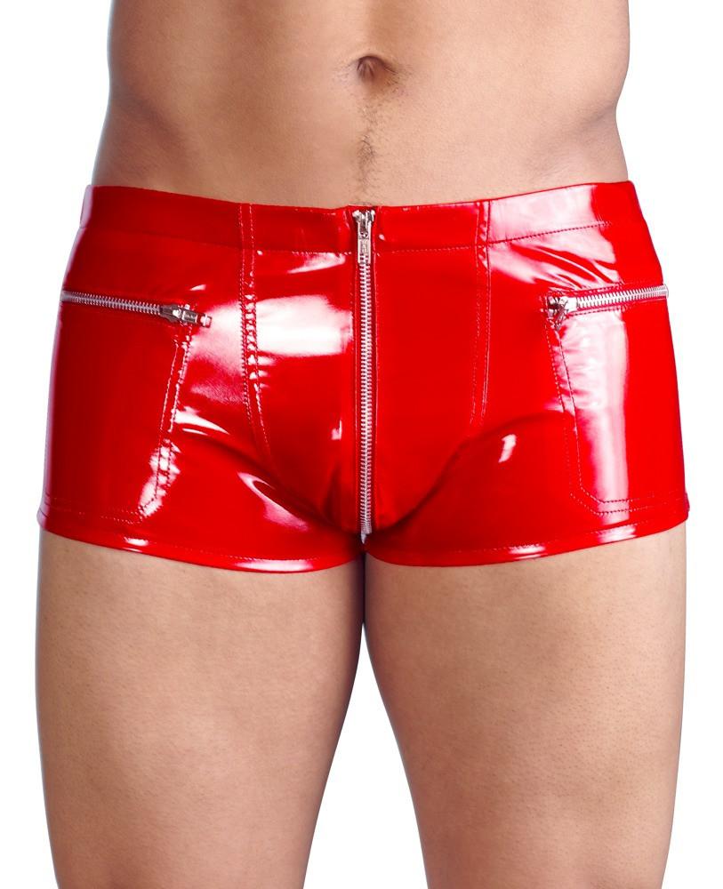 Лакові трусики Black Level Pants Red від Orion