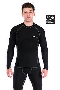 Мужская термофутболка Totalfit TMR33 XXL Черный с серым