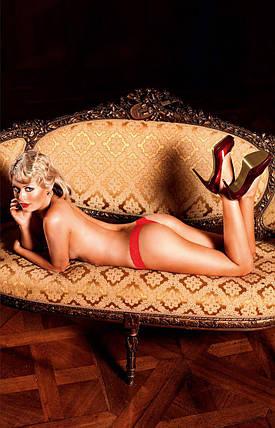 Эротические трусики стринги Lace Mesh Thong от BACI Lingerie, фото 2