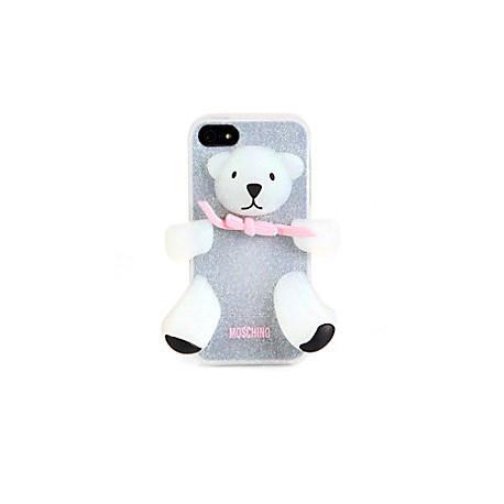 Чехол Moschino Bear Серебряный на IPhone 5/5S infinity
