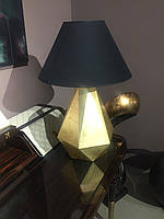 Лампа настольная с покрытием золотой поталью