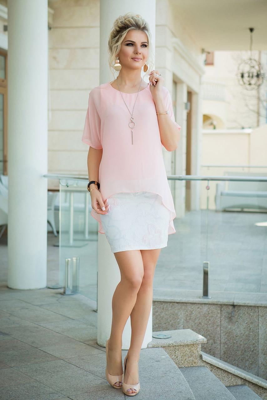 Аллегра нарядное Платье с розовой накидкой