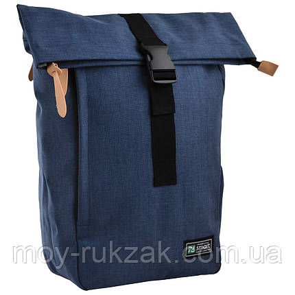 """Рюкзак городской Roll-top T-70 """"Ink blue"""", «Smart» 557586, фото 2"""