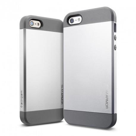 Чехол SGP Slim Armor для iPhone 5/5S Серебристый infinity