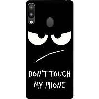 Бампер силиконовый для Samsung M20 с рисунком Dont Touch