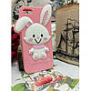 Силиконовый Чехол Rabbit Wish me mell на IPhone 4/4S Розовый infinity, фото 2