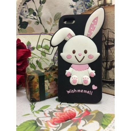 Силиконовый Чехол Rabbit Wish me mell на IPhone 4/4S Черный infinity
