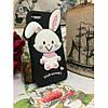Силиконовый Чехол Rabbit Wish me mell на IPhone 4/4S Черный infinity, фото 3