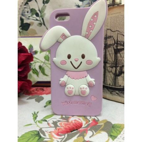 Силиконовый Чехол Rabbit Wish me mell на IPhone 4/4S Фиолетовый infinity