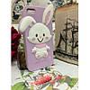 Силиконовый Чехол Rabbit Wish me mell на IPhone 4/4S Фиолетовый infinity, фото 2