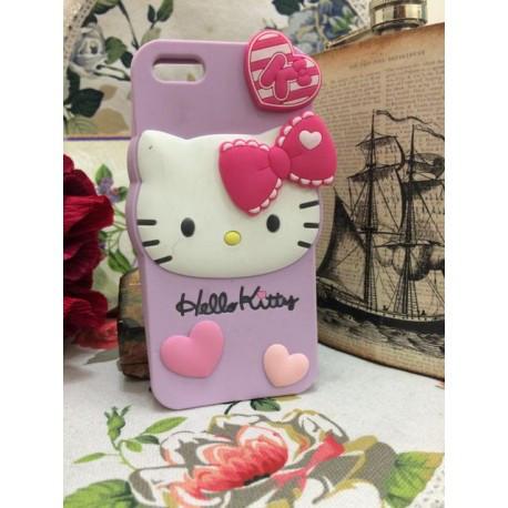Силиконовый Чехол Hello Kitty на IPhone 5/5S Фиолетовый infinity