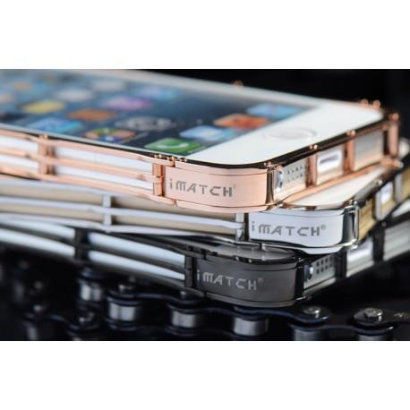 Бампер iMatch из нержавеющей стали на IPhone 5/5S Черный infinity