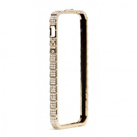 Бампер Bulgari для IPhone 5/5S Luxury Snake Со стразами Золотой infinity