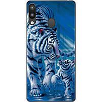 Бампер силиконовый для Samsung M20 с рисунком Тигры