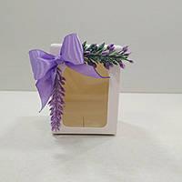 """Коробочка для писанки, подарка """"Лаванда""""  50х50х70 мм. с  декором, фото 1"""