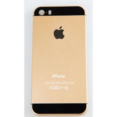 Чехол пластик Золотой с черным с логотипом на IPhone 5/5S infinity