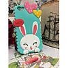 Чехол Cute Heart Hello Rabbit Зеленый для IPhone 5/5S infinity, фото 3