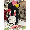 Чехол Cute Heart Hello Rabbit Черный для IPhone 5/5S infinity, фото 8
