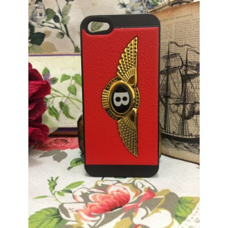 Чехол Накладка c логотипом Bentley Красно-черная для iPhone 5/5S infinity