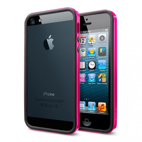 Бампер SGP Neo Hybrid EX Slim Black/Pink для iPhone 4/4S infinity