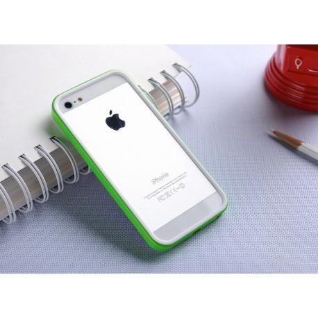 Бампер SGP Neo Hybrid EX Slim White/Green для iPhone 5/5S infinity