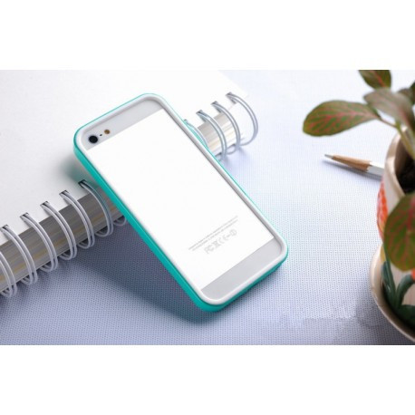 Бампер SGP Neo Hybrid EX Slim White/Deep Green для iPhone 5/5S infinity