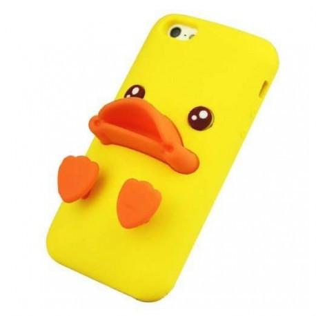 Чехол с мордочкой и лапками уточки желтый для iPhone 5/5S infinity