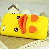Чехол с мордочкой и лапками уточки желтый для iPhone 5/5S infinity, фото 2