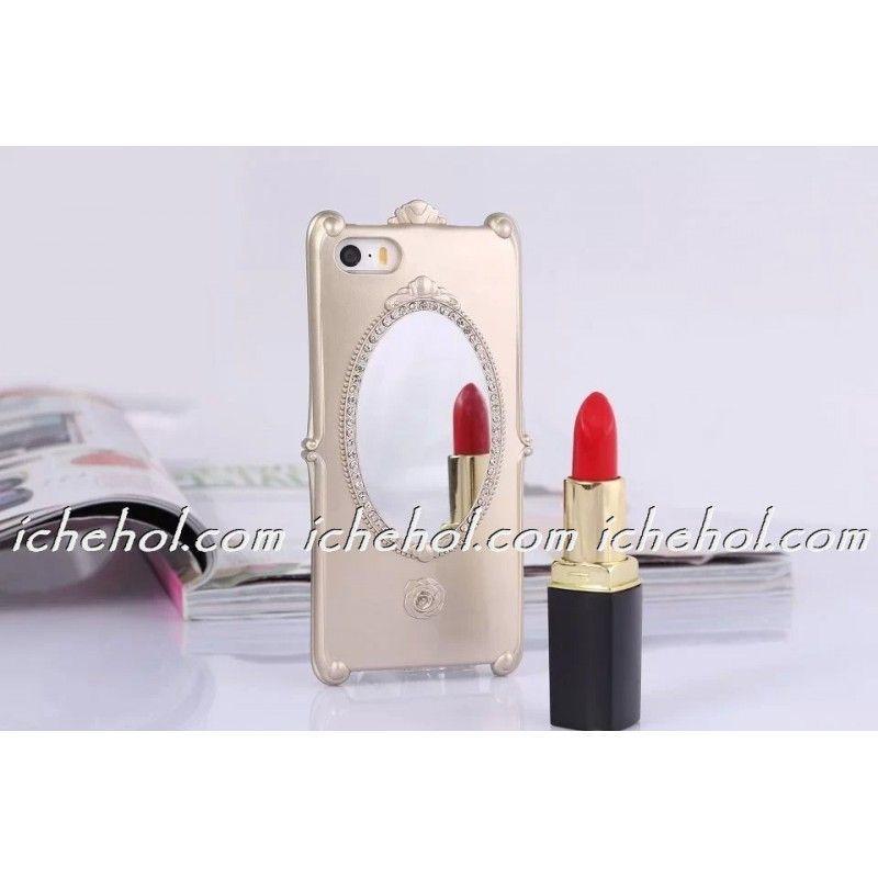 Чехол с зеркалом для iPhone 5/5S Золотой infinity