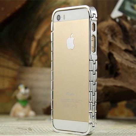 Бампер Aluminum Knuckle для iPhone 5/5S Серебристый infinity