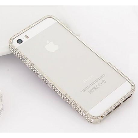 Бампер Swarovski for iPhone 5/5s Серебристый infinity