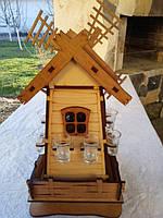 Мини-бар Мельница с рюмками