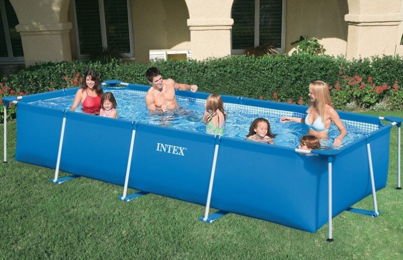 Каркасный прямоугольный бассейн Intex 28273 (450*220*85 см)