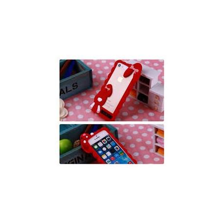 Бампер Moschino заяц для IPhone 5/5S Красный infinity