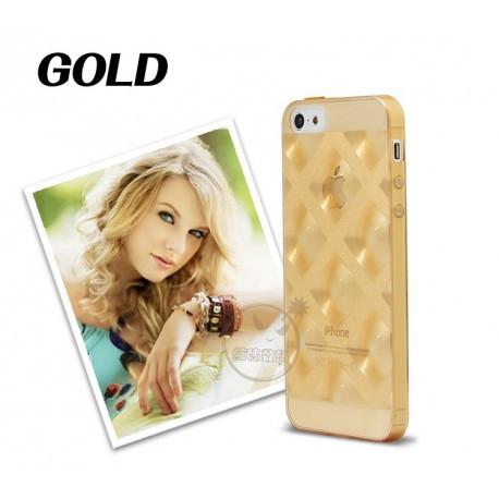 Чехол Накладка силиконовый для IPhone 5/5S Золотой infinity