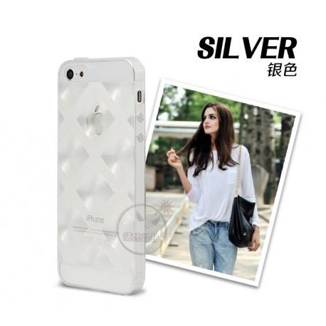 Чехол Накладка силиконовый для IPhone 5/5S Прозрачный infinity