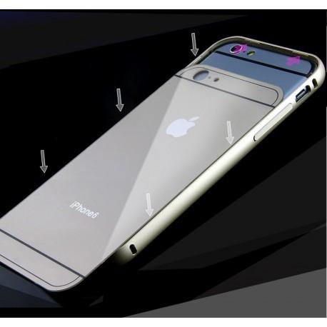 Чехол Накладка металлическая Apple для IPhone 6/6SЗолотой infinity