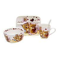 Набор посуды для детей Love You в подарочной упаковке
