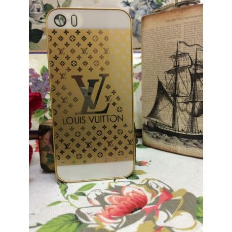 Чехол пластиковый LV  для iPhone 5/5S Золотой infinity