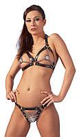 Эротический кожаный комплект Zado Fetish Leather Bikini