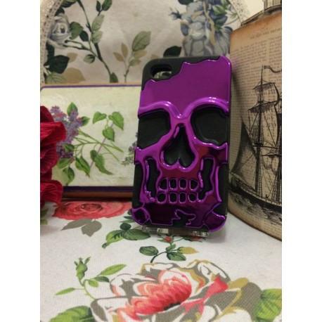 Чехол Череп Skull Head для iPhone 4/4S Фиолетовый infinity